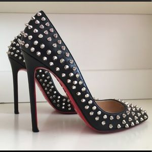 Authentic Christian Louboutin spiked pigelle.